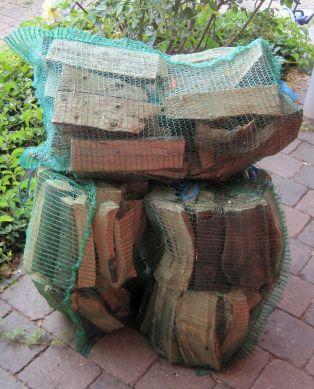 Holz Raschelsack